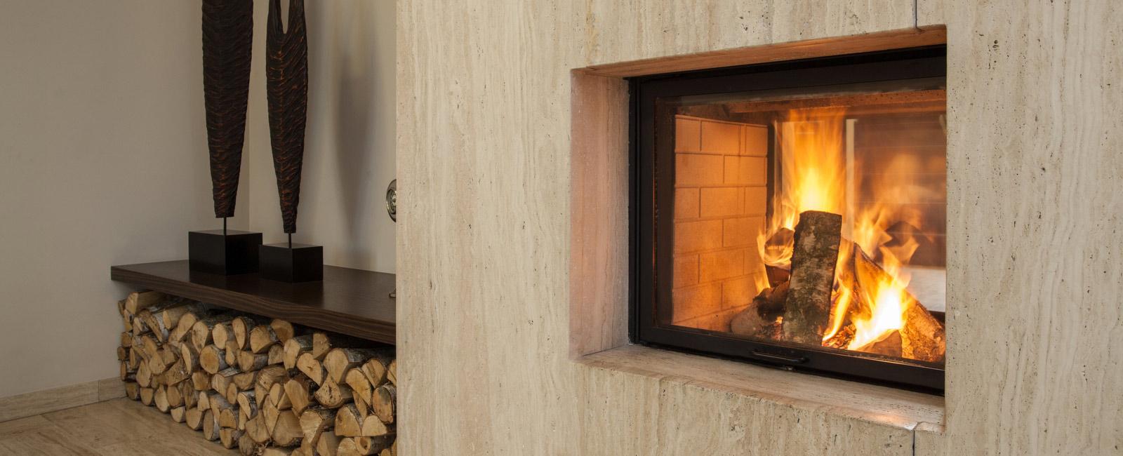 Poêle à bois insert de cheminée