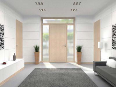 Porte d'entrée matériau bois