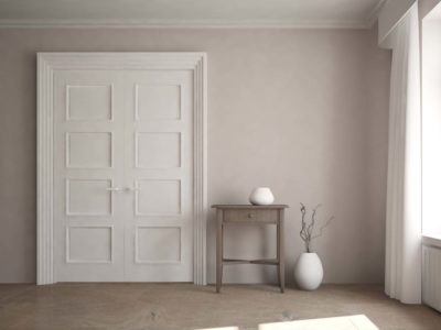porte d'intérieur blanche modèle large