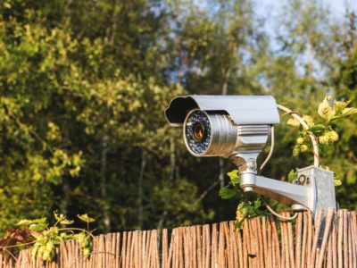 Caméra de surveillance jardin