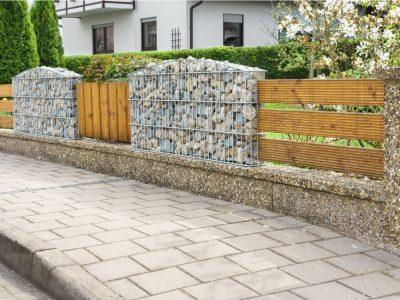 La clôture en gabion