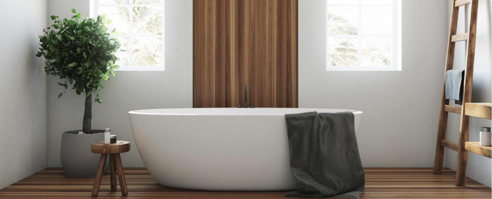 Panneau murale bois salle de bain