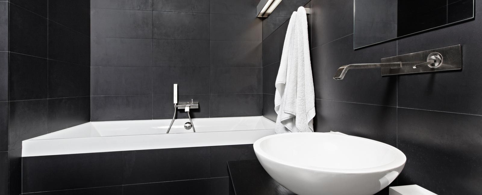 salle de bain monochrome