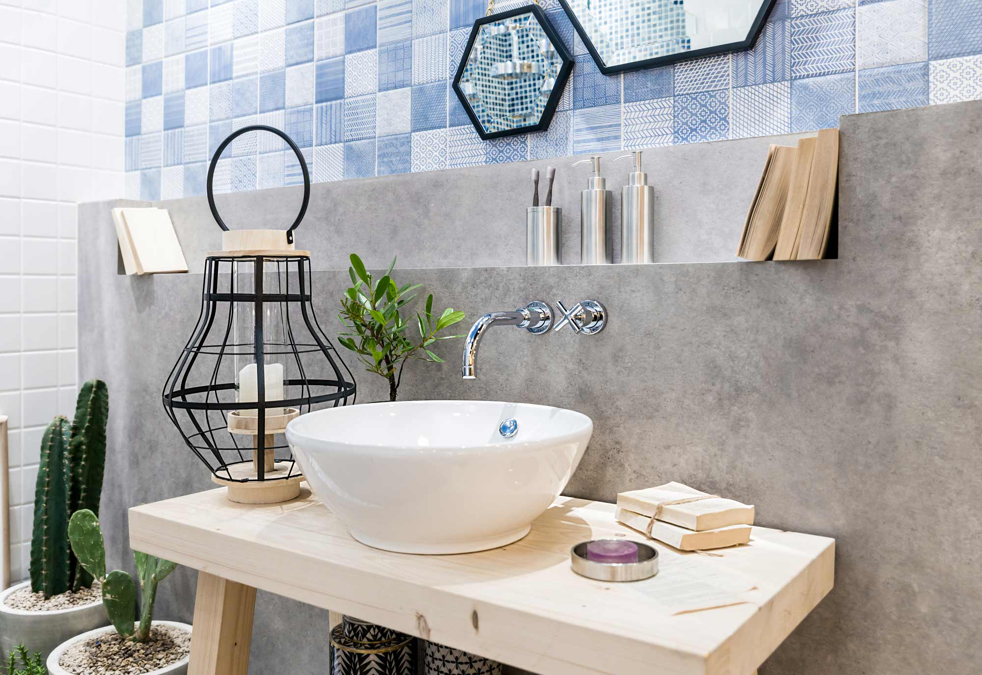 Plan De Toilette Hydrofuge comment installer, monter, poser une vasque de salle de bain ?